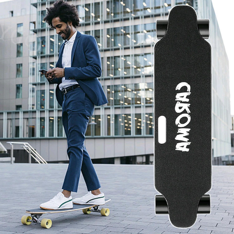 700W Dual Electric Skateboard With Control 20MPH Longboard