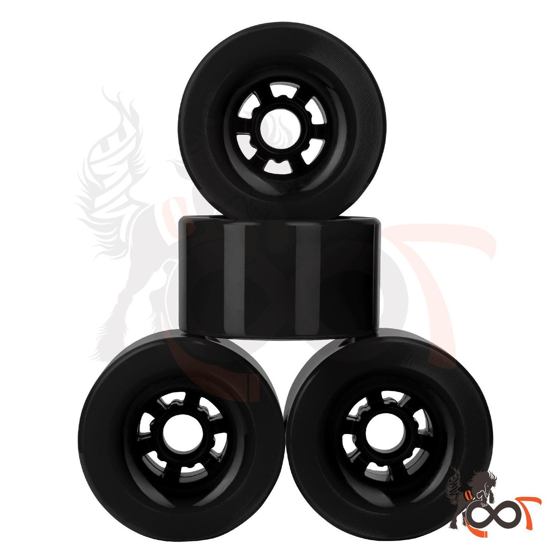 97mm 78A Thin Core Wheels Longboard Flywheel Black Fits Evol