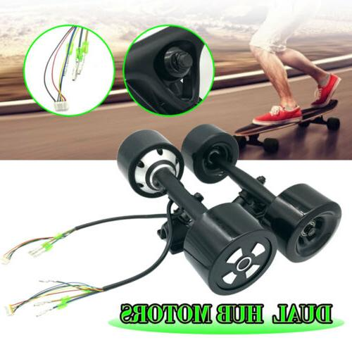 90MM 6364 Dual Hub Motor Drive Wheel Kit For Electric Skateb