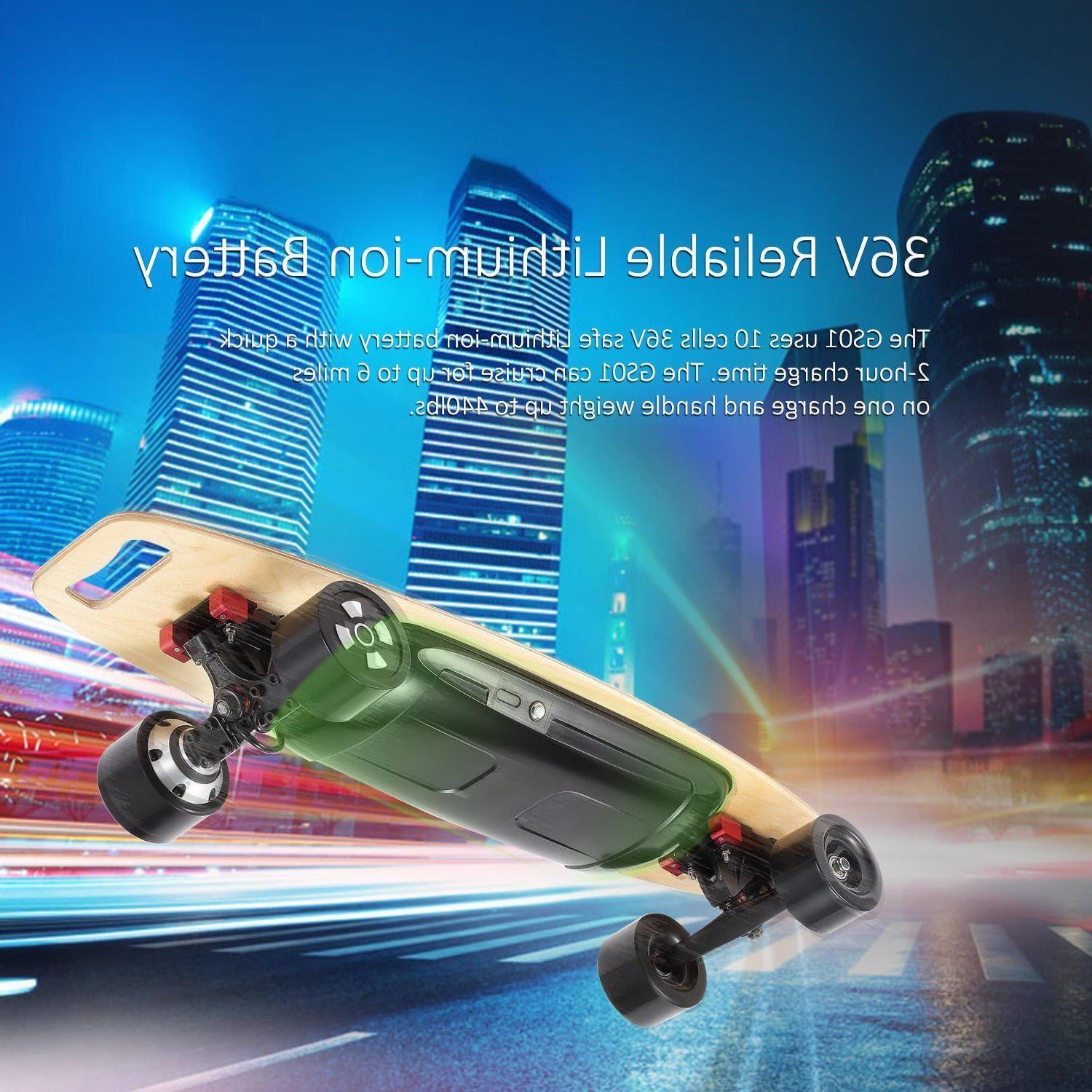 90mm Electric Longboard Dual 4-Wheel Hover Board