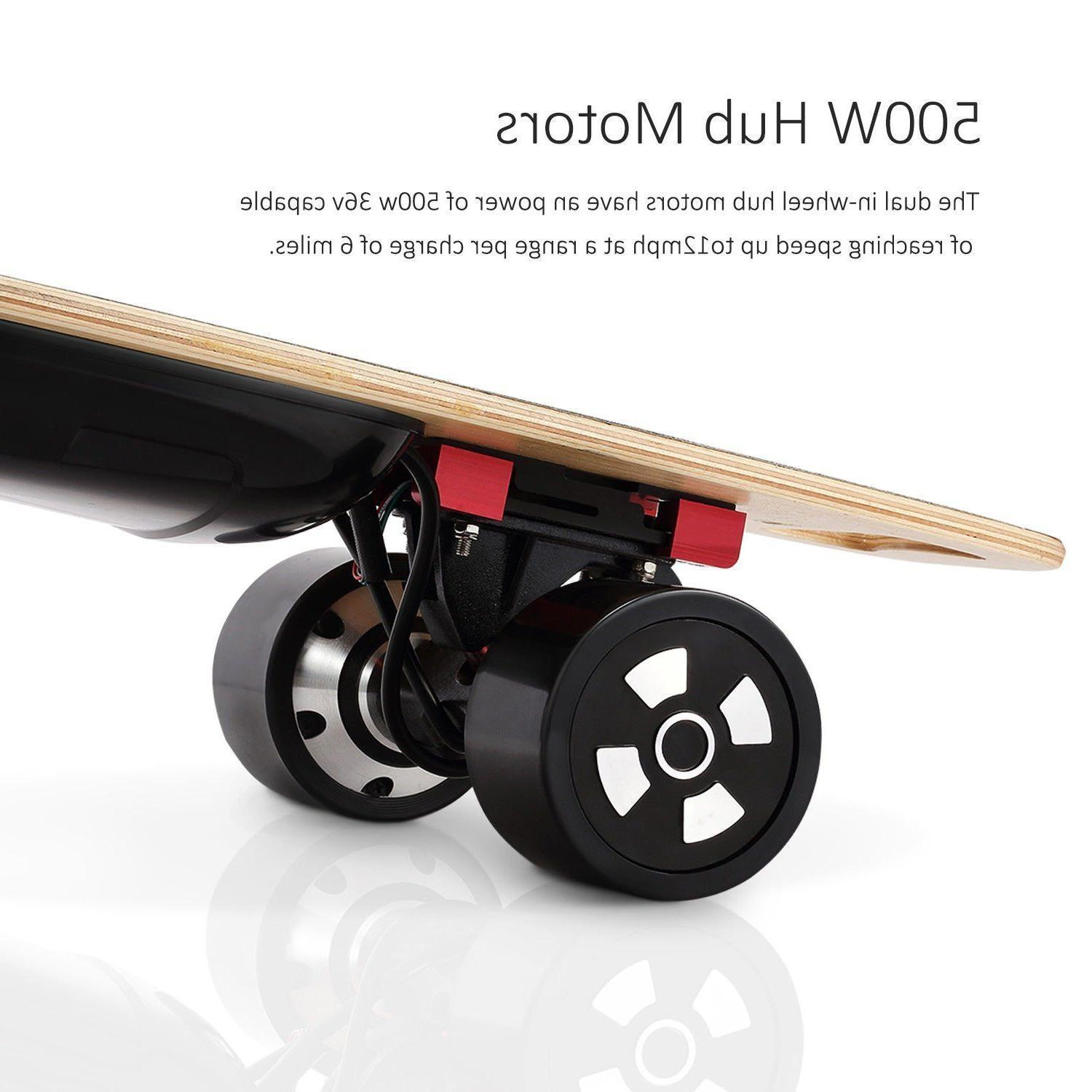 90mm Electric 800W Dual Motorized 4-Wheel Board