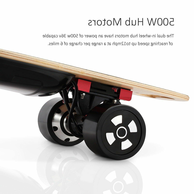 90mm Electric 800W Dual Motorized 4-Wheel Board