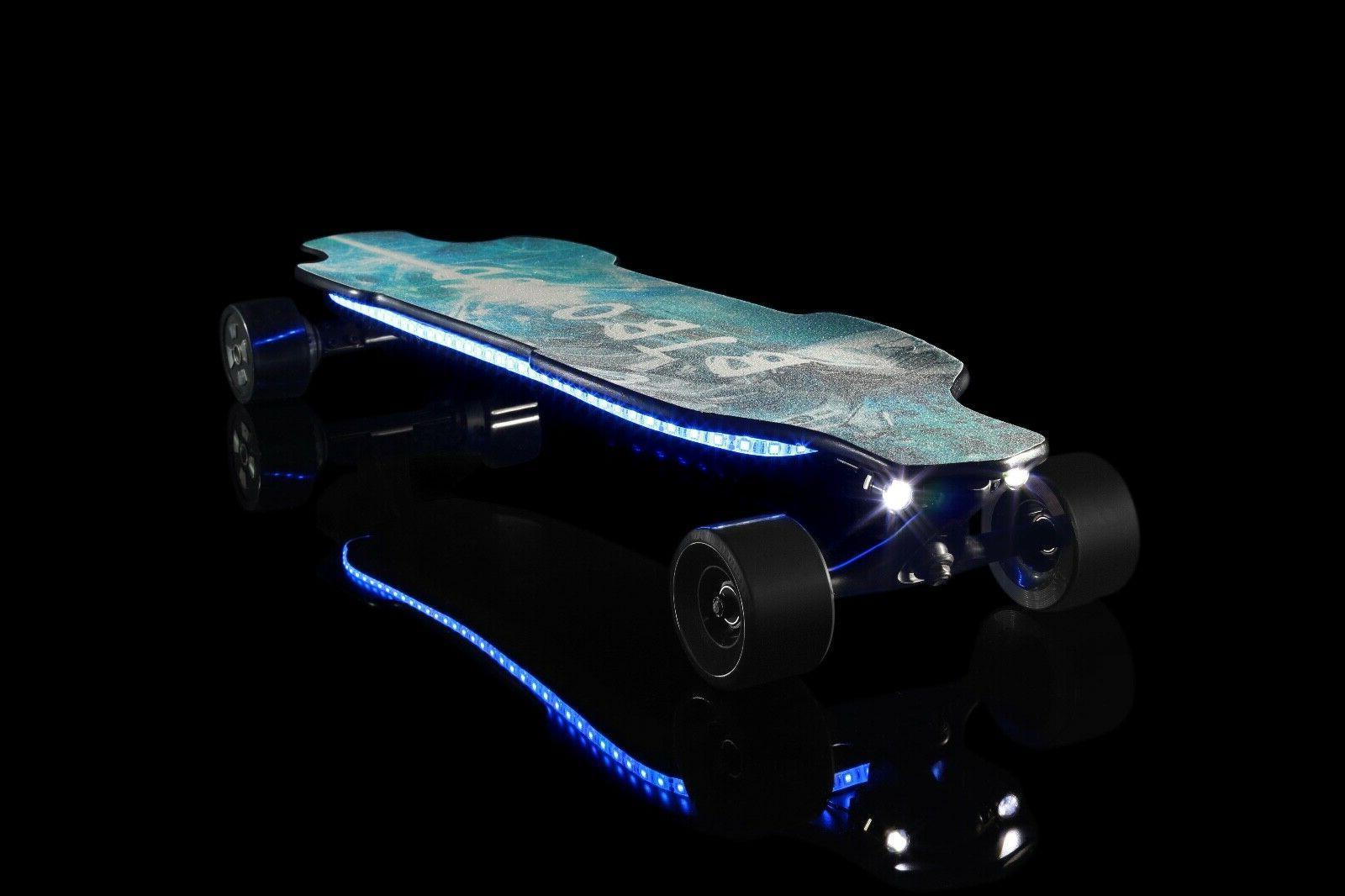 B1 Skateboard-Dual 1200W-28MPH-25mile-with LED Lights-9.6Ah
