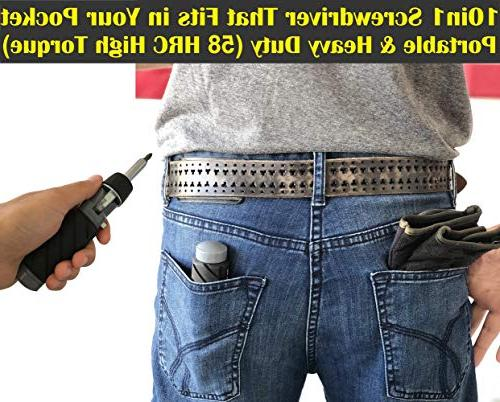 10 in 1 Multibit ADJUSTABLE SCREWDRIVER SET Torque for Oily Hand Compact Portable Phillips