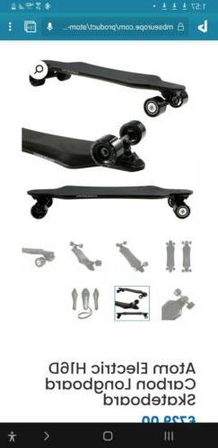 Atom Electric H16D Carbon Longboard Skateboard