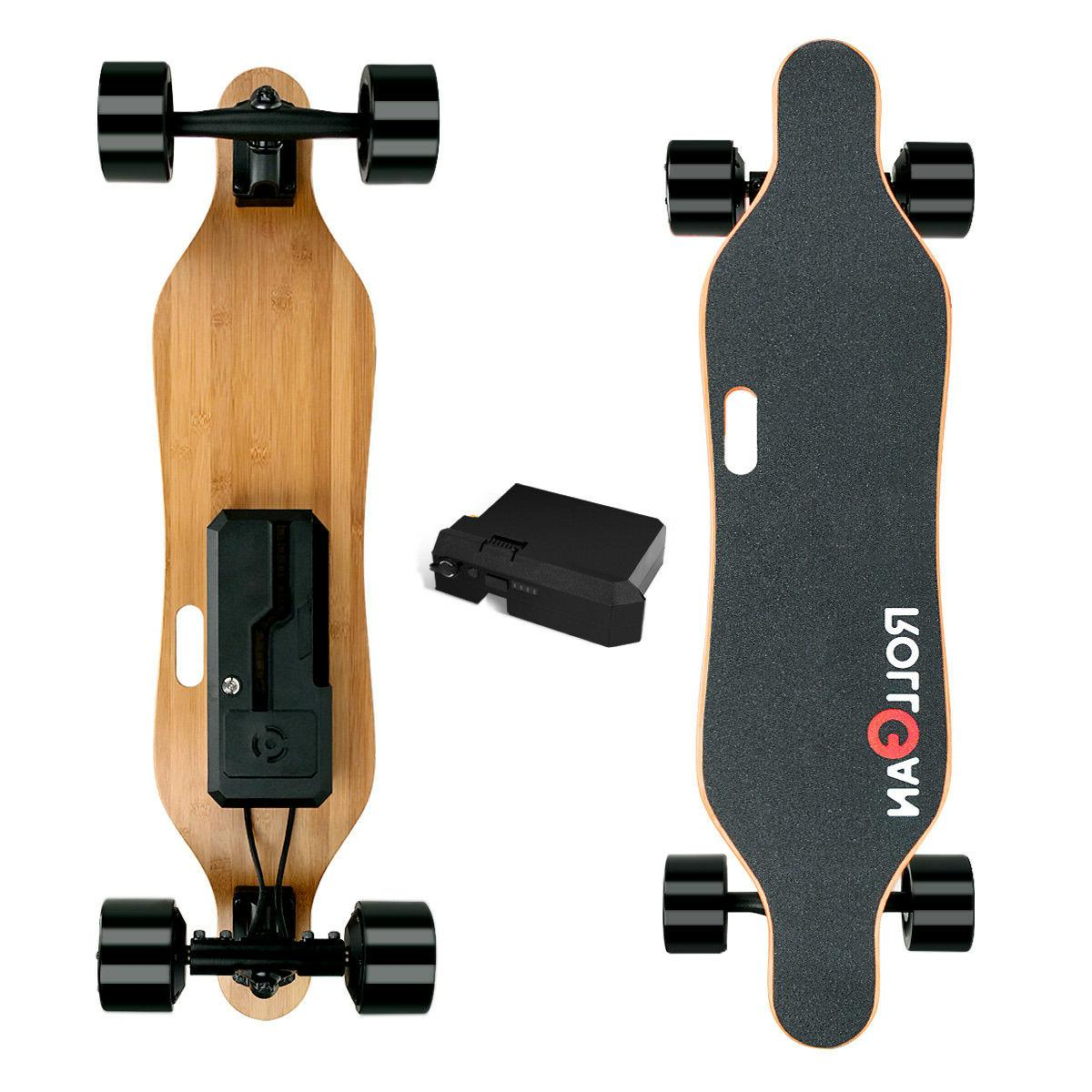 Longboard Electric Skateboard 2x350W Dual Hub Motors Moteriz