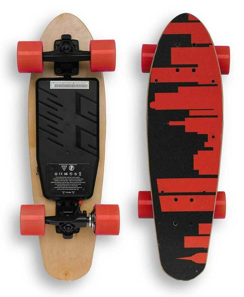 brand new electric skateboard short board red