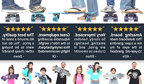 Skitch Complete Set for Beginners Boys and of Ages with 22 Mini Skateboard Backpack Tool + Tote Bag