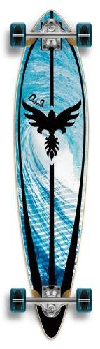 complete graphic longboard pintail skateboard