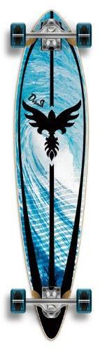 "Complete Graphic Longboard PINTAIL Skateboard 40"" X 9"" - Tsu"