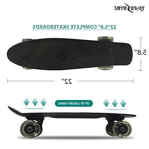 Loadshine Complete Cruiser Skateboard for Kids/Beginner The Box