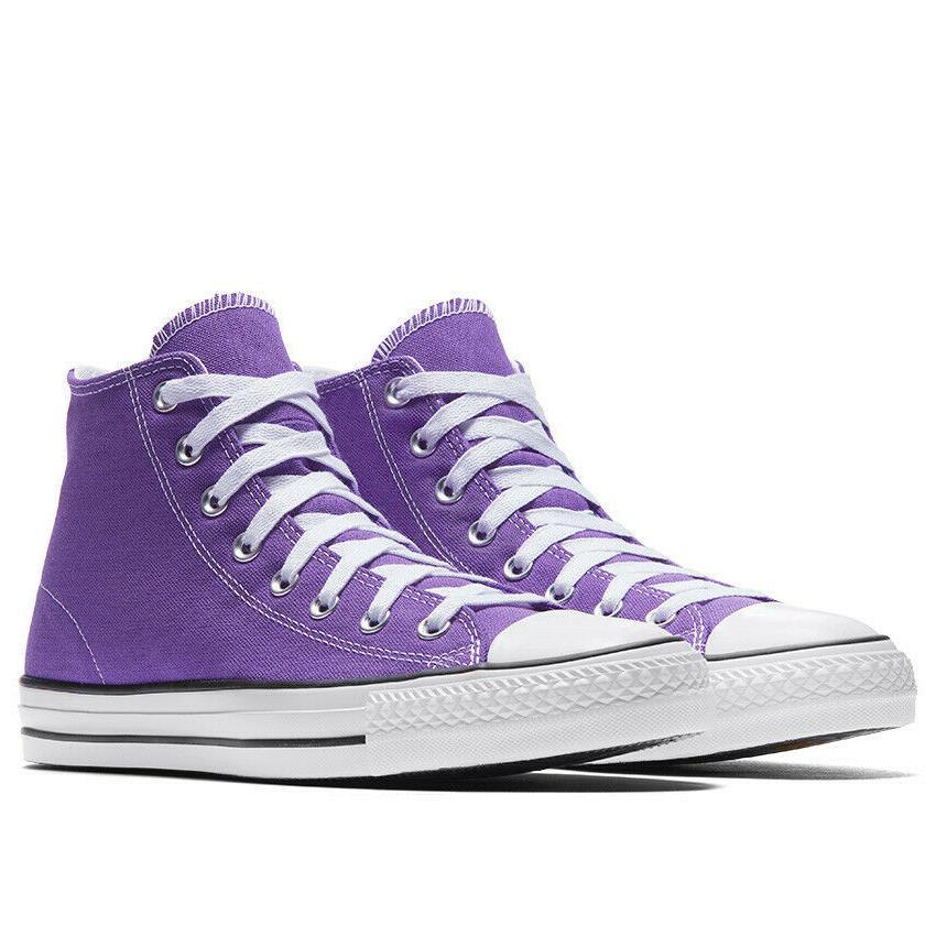 Converse Cons CTAS Pro High Top Canvas Shoes Purple 162187C $70