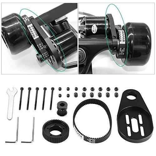 XCSOURCE Electric Longboard Pulley Kit + Belt Mount for Wheel OS915