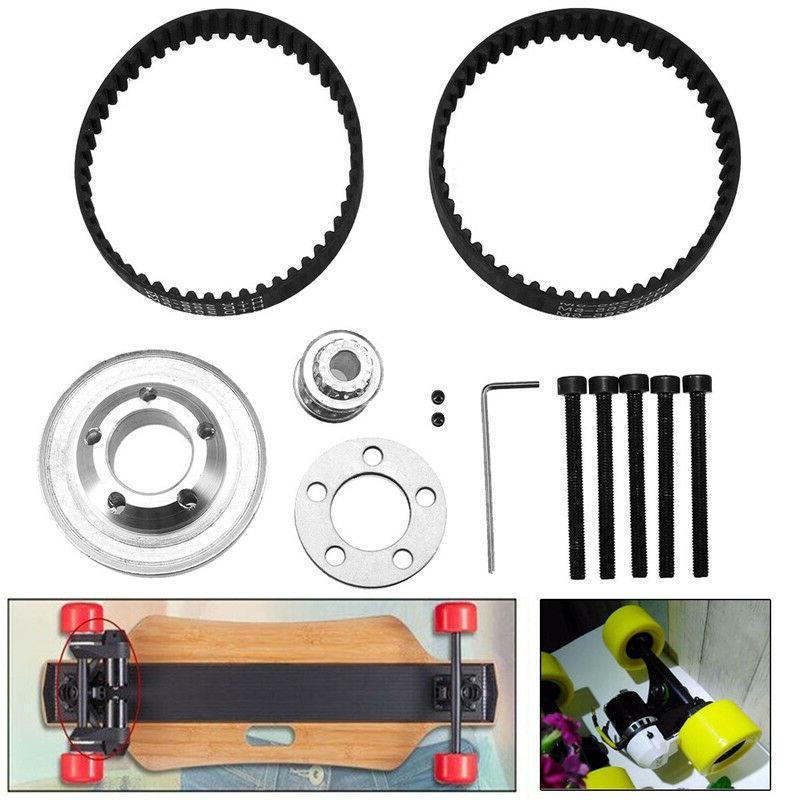 diy electric skateboard parts pulley drive belt