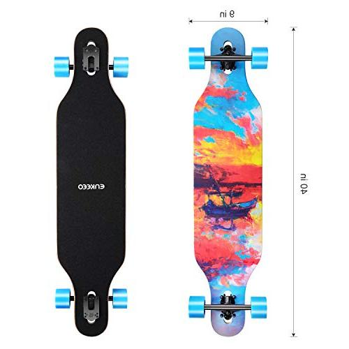ENKEEO Longboard for Carving Downhill Cruising Riding - Painting