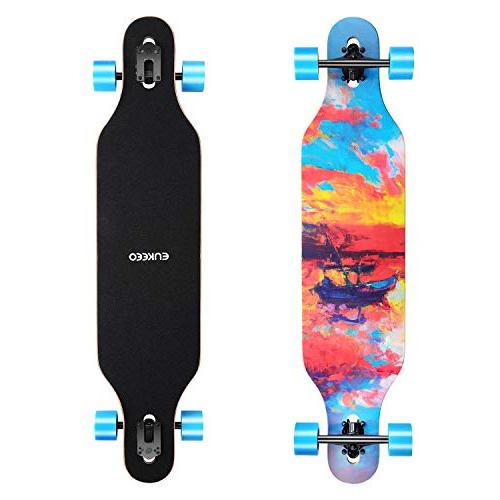 drop through longboard skateboard complete