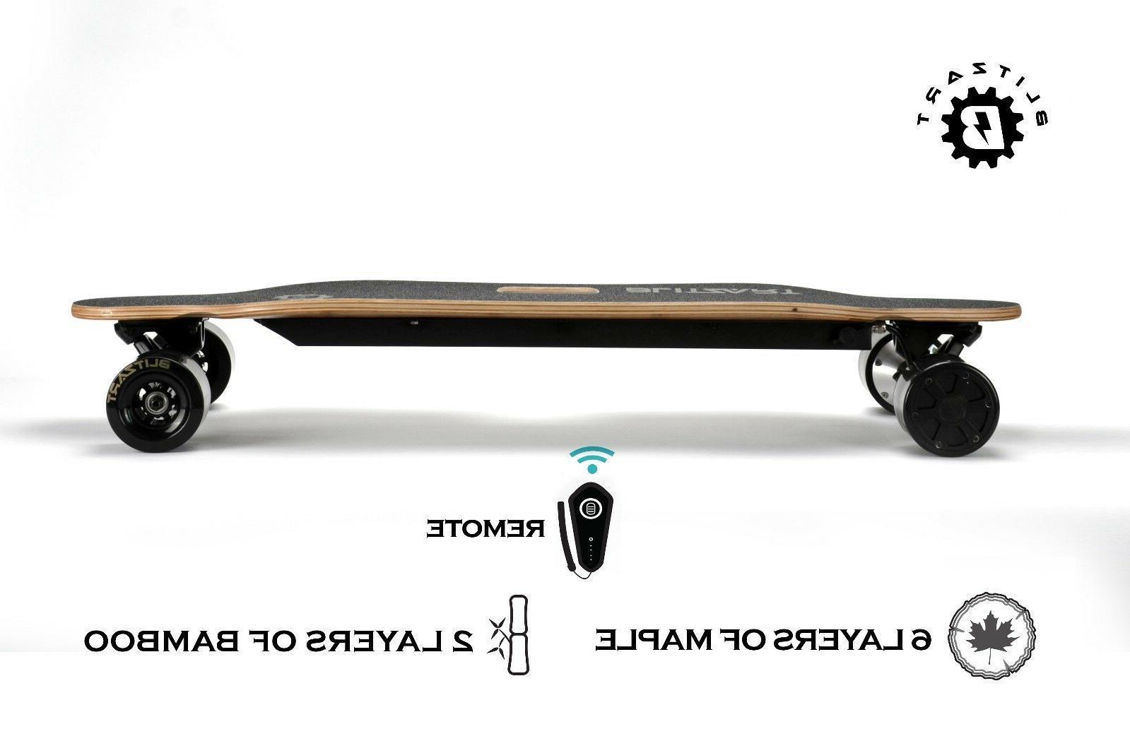 "BLITZART Dual 38"" MOTORS Skateboard"