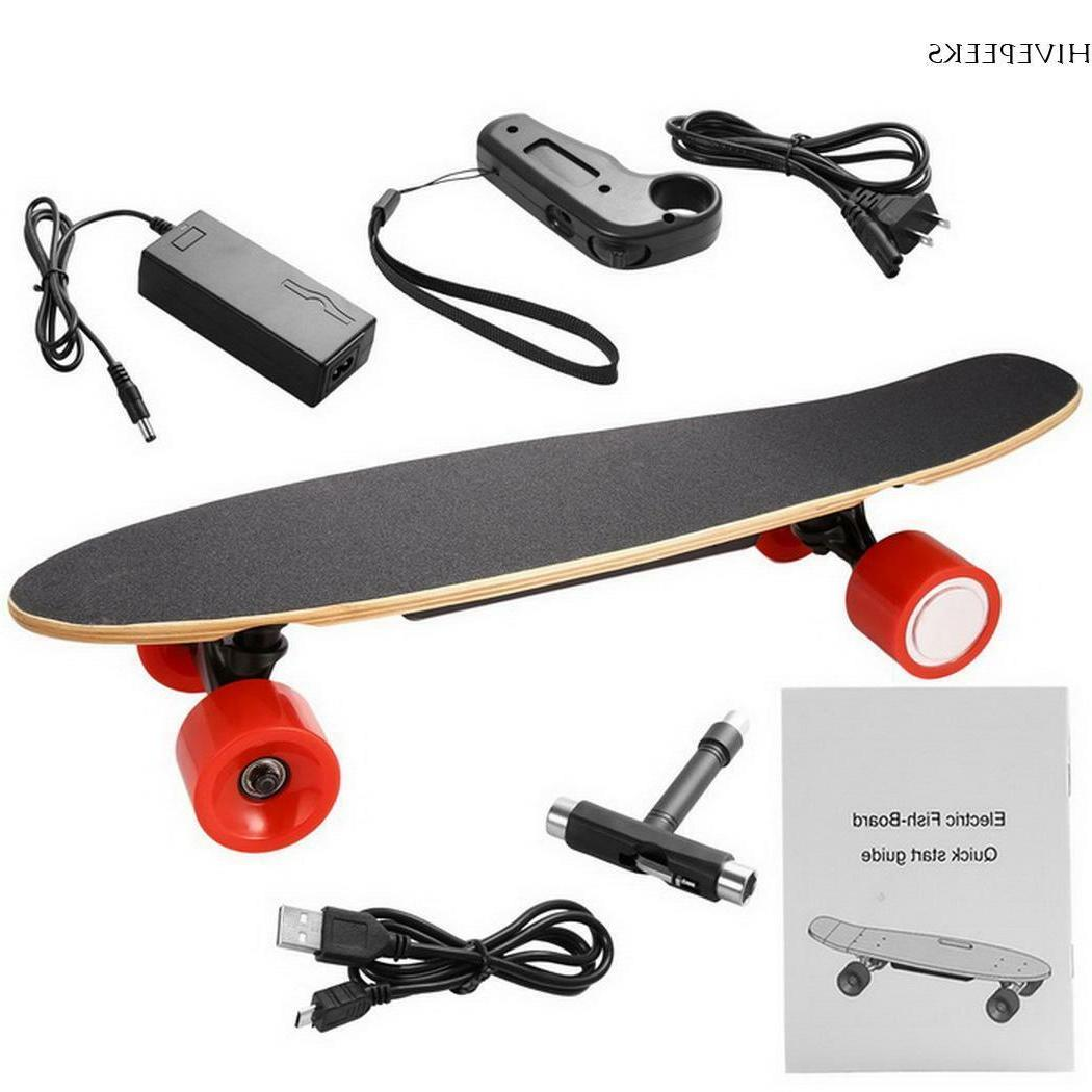 Electric Moterized Skateboard Wireless Control Maple