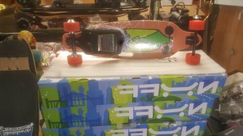 electric longboard skateboard black orange 2000w motor