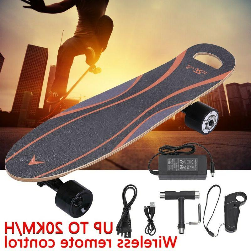 NEW! Fast Electric Skateboard 20MPH HUB Motor, Remote + 7 La