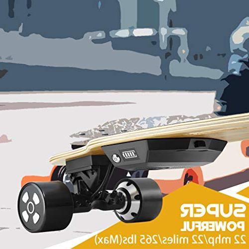 Voxpree 350W MPH Max Miles Strong Longboard with Controller