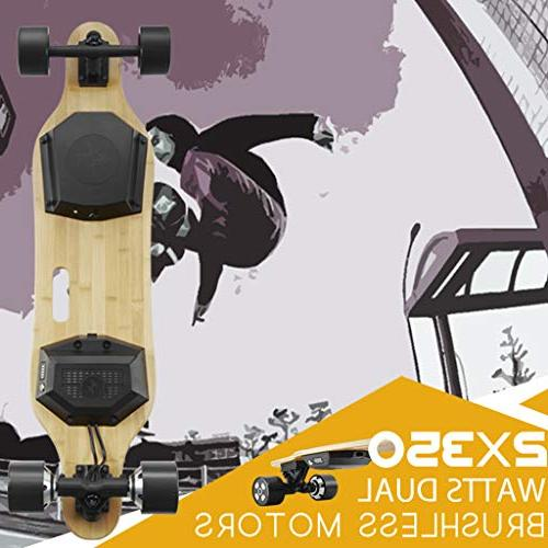 Voxpree 350W Dual Motors, 22 MPH Miles Longboard with