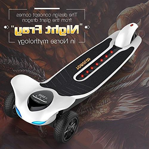 Electric Skateboard with -- TOMOLOO Dragon H3 Longboard Remote Controller, 17.5 Top Miles Max