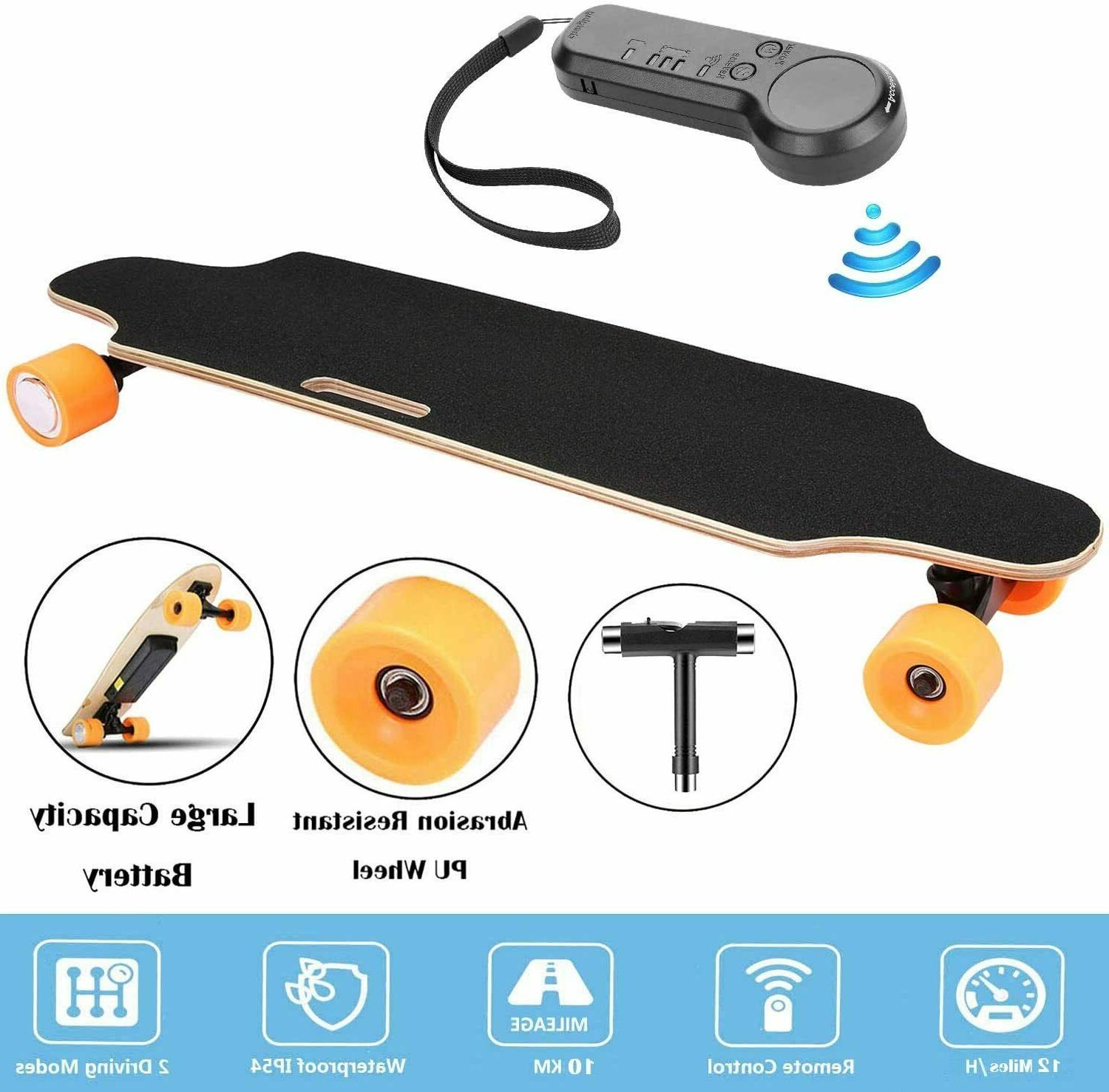 Aceshin Skateboard Maple Long Board +Remote