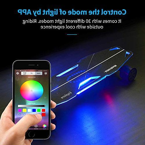 Spadger Skateboard Plus 35'' 12 up Wireless APP Lights