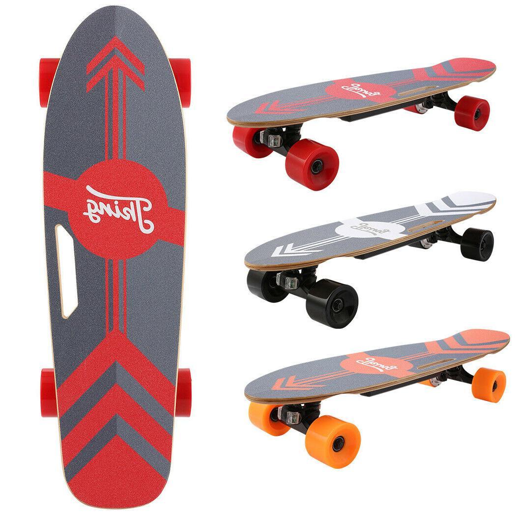 electric skateboard dual motor longboard board wireless