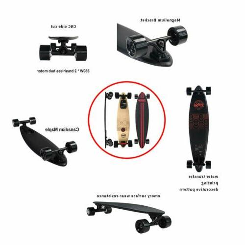 Electric Dual Motor Maple Longboard with Remote