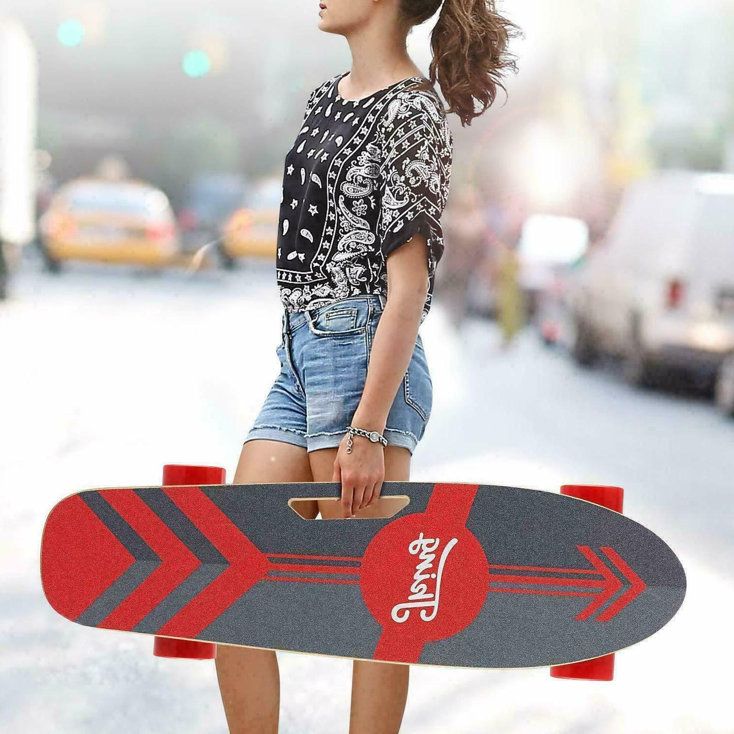 Ancheer Youth Electric Skateboard Electric Longboard w/ Wire