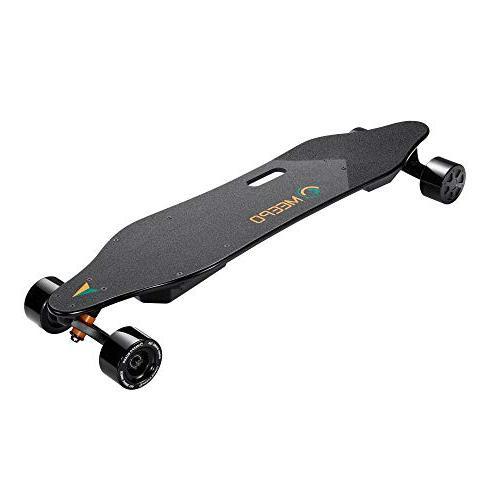 MEEPO Longboard, Motor Electric Skateboard with Controller - Motors Mile Range   29 MPH Speed   30% Grade