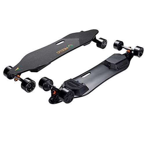 MEEPO Skateboard Longboard, 38inch Dual Motor Electric Skateboard Remote Controller 800 Watts Motors Range   29 Speed   Up 30% Grade