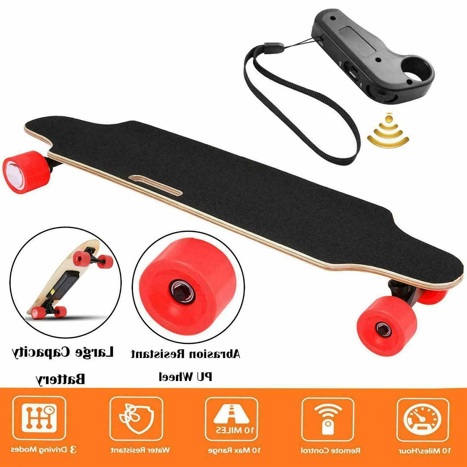 Aceshin Electric Skateboard Cruiser Maple Long Board with Wi