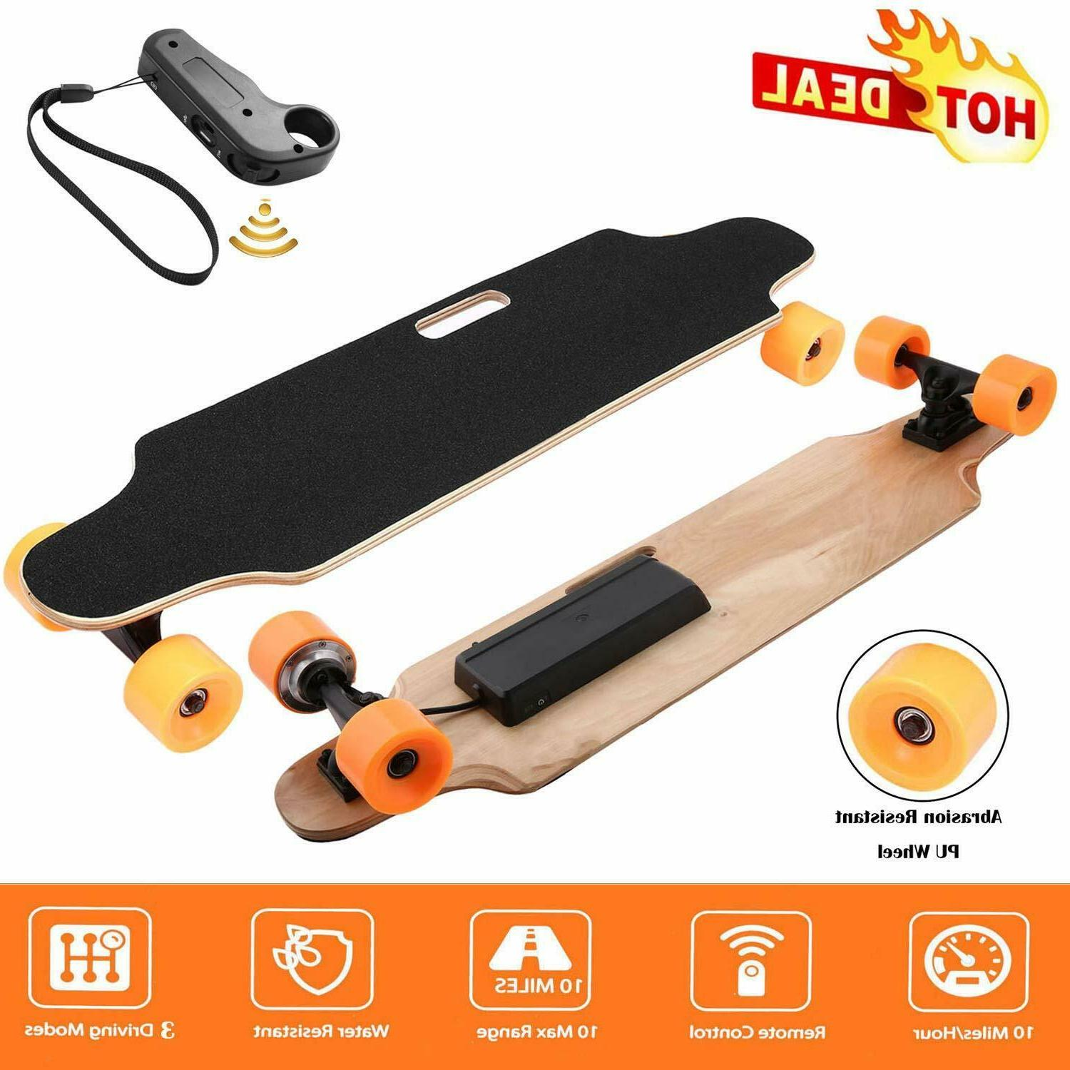 "Electric Skateboard 2.9"" Wheels Longboard Wireless Remote Co"