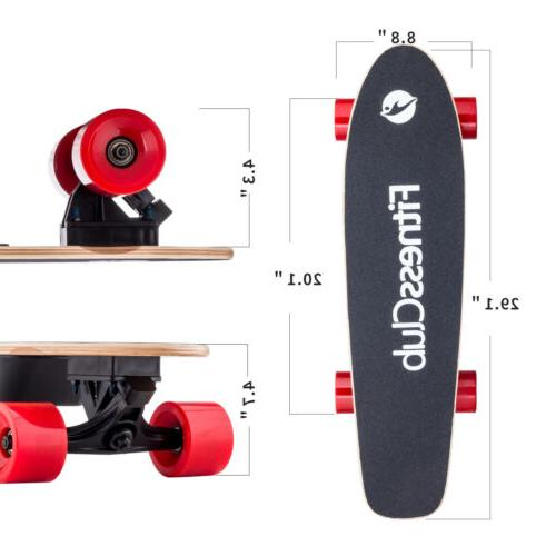 Electric Skateboard Scooter 4 Wheels With Remote