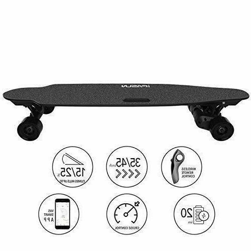 iFasun Skateboard Longboard w/ Remote, Single 004