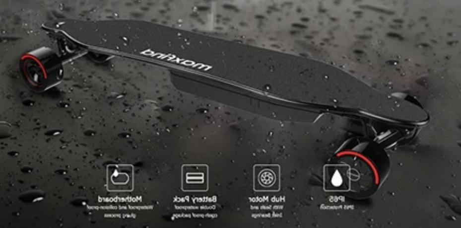 Electric Skateboard Max4 Pro Dual Motor 15 miles 26mph Modes Remote Control US