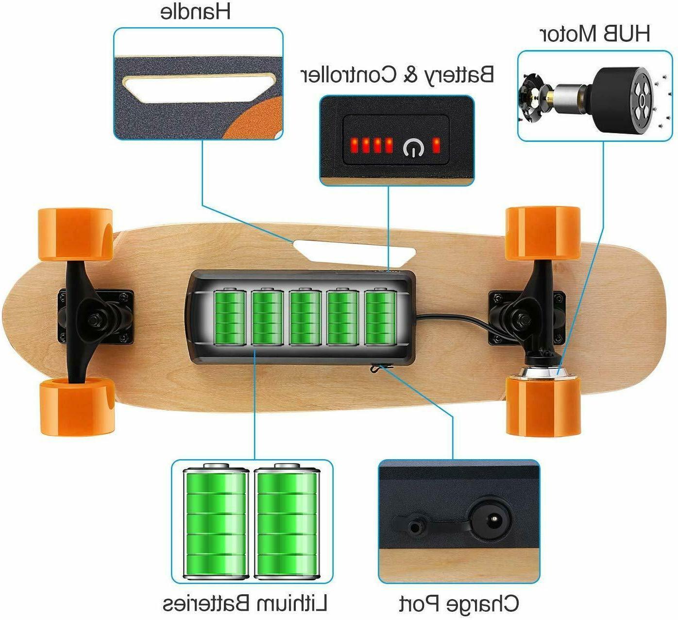 ANCHEER Skateboard Motor Longboard Wireless Control 350W