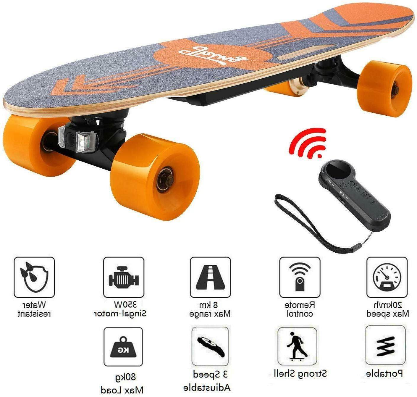 New 3-SPeed Electric Skateboard Power Motor Cruiser Maple Lo