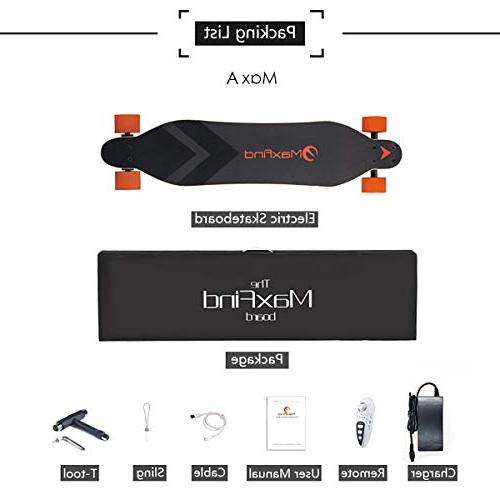 Maxfind Electric 18.6 Motor Skateboard with Remote