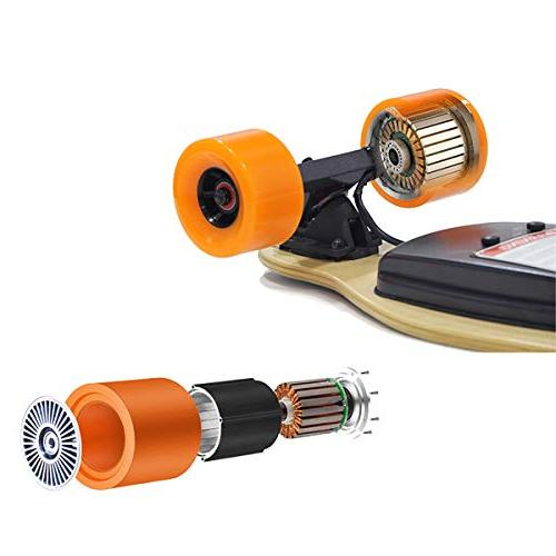"""18.6 mph Hub Motor 38"""" Electric Skateboard with Remote"""