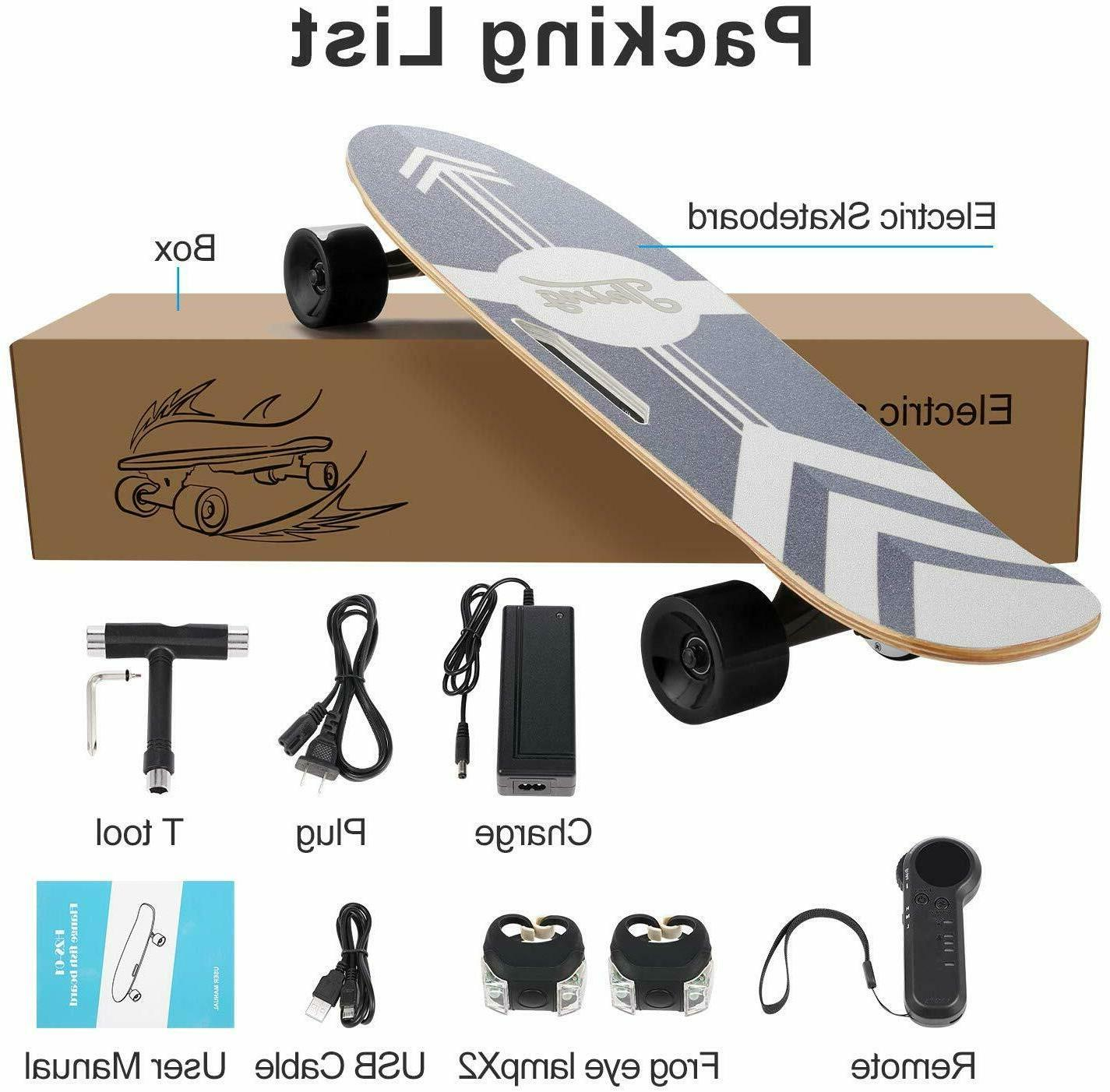 Electric Skateboard Power Motor Cruiser Maple Long with Remote 20KM/H