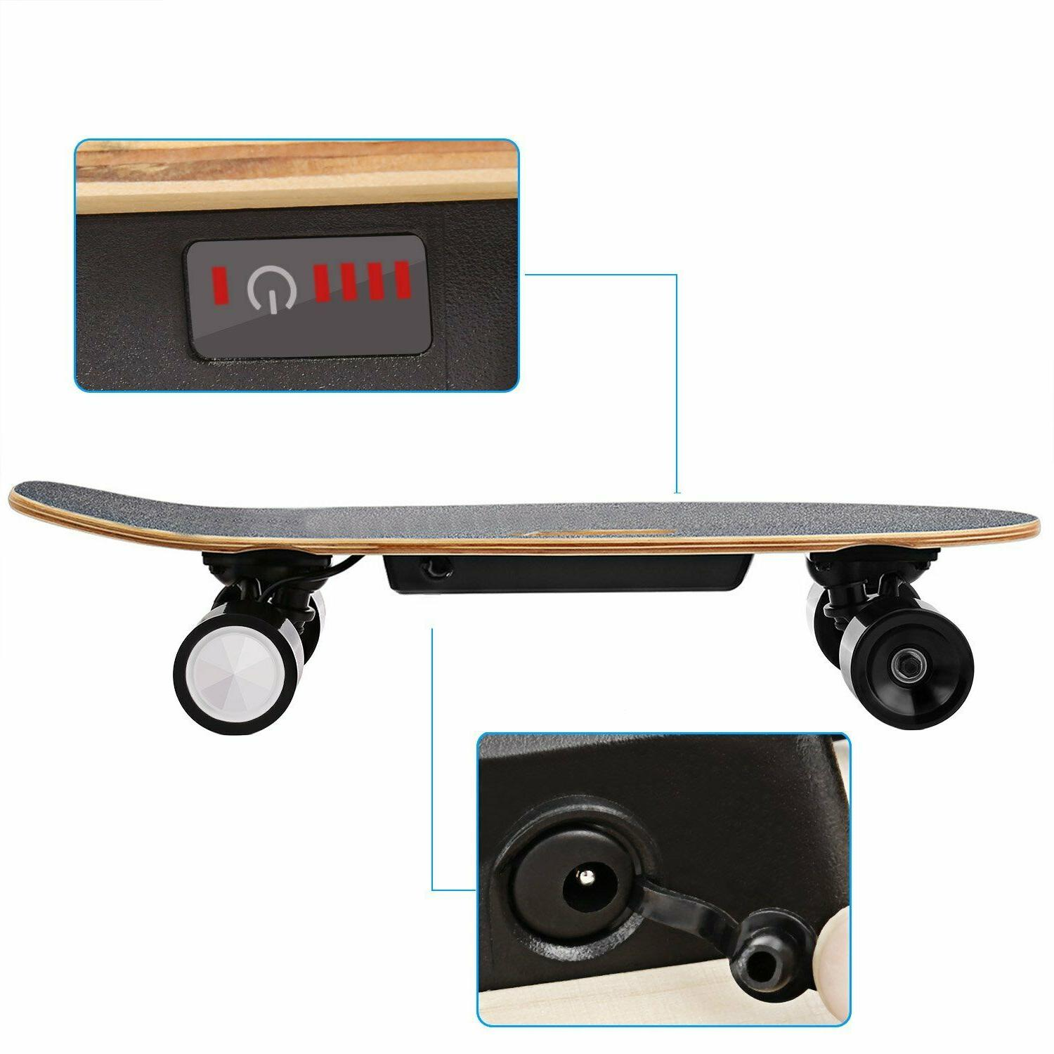Mini Electric Skateboard Motor Board Wireless w/Remote Control US