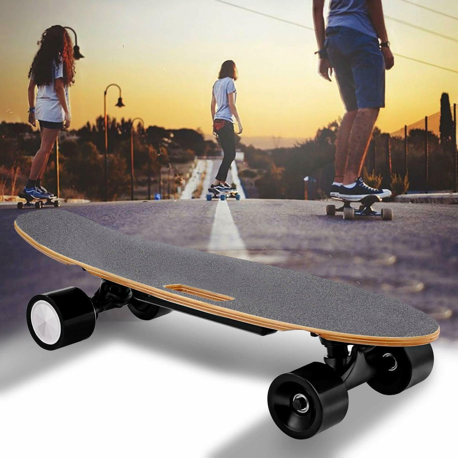 Electric Skateboard Longboard Remote Control&Charger Black L
