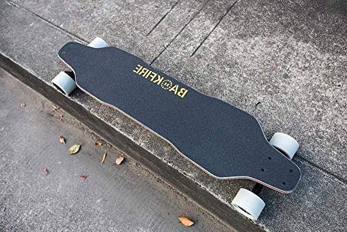 BACKFIRE Electric & Motor Skateboard- Black Grip: 23 mph Speed, Replaceable 80mm Wheels & 96mm