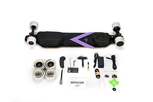 BACKFIRE G2S Electric Longboard & Electric Skateboard- Golden 23 Replaceable 96mm Wheels Included