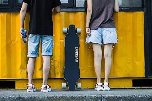 BACKFIRE G2S Longboard & Electric Skateboard- Black Grip: 23 Replaceable 80mm Wheels 96mm Wheels Included