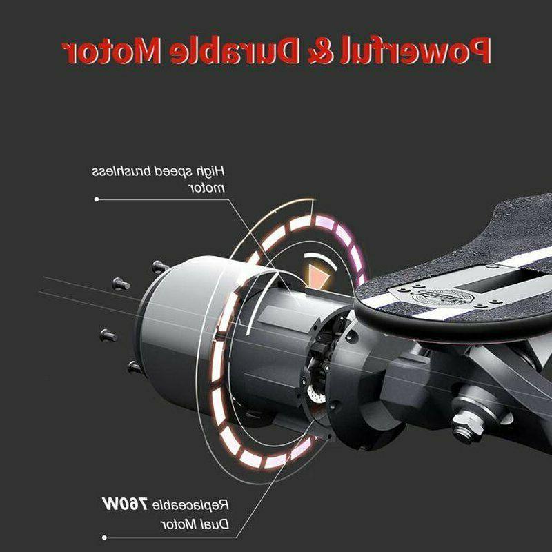 """Teamgee 37"""" Skateboard 22Mph 760W Dual Motor Longboard"""